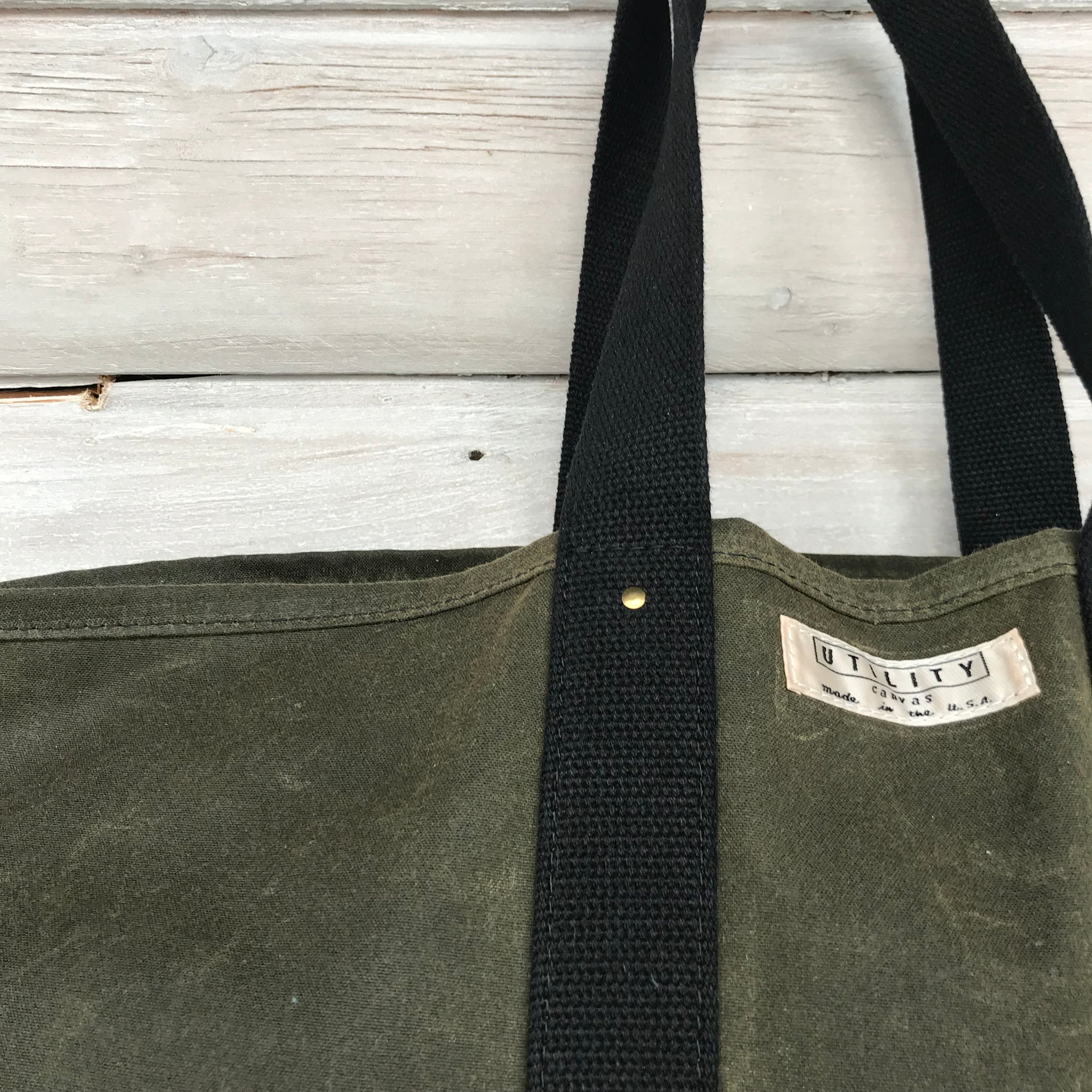 Waxed Canvas Coal Bag by Utility Canvas