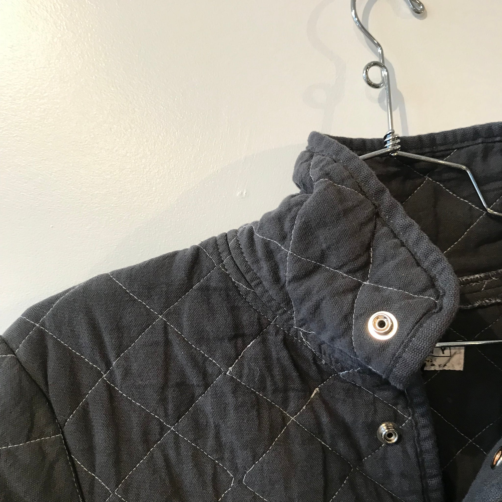 Quilted Snap Jacket by Utility Canvas