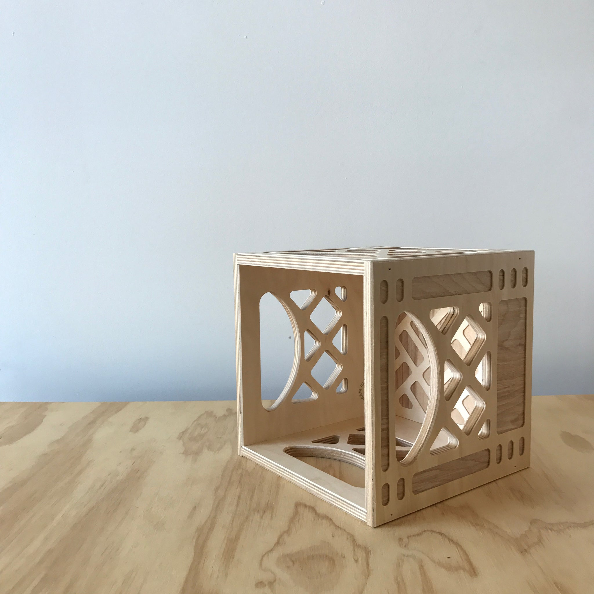 Mini Square Wooden Crate by WAAM Industries