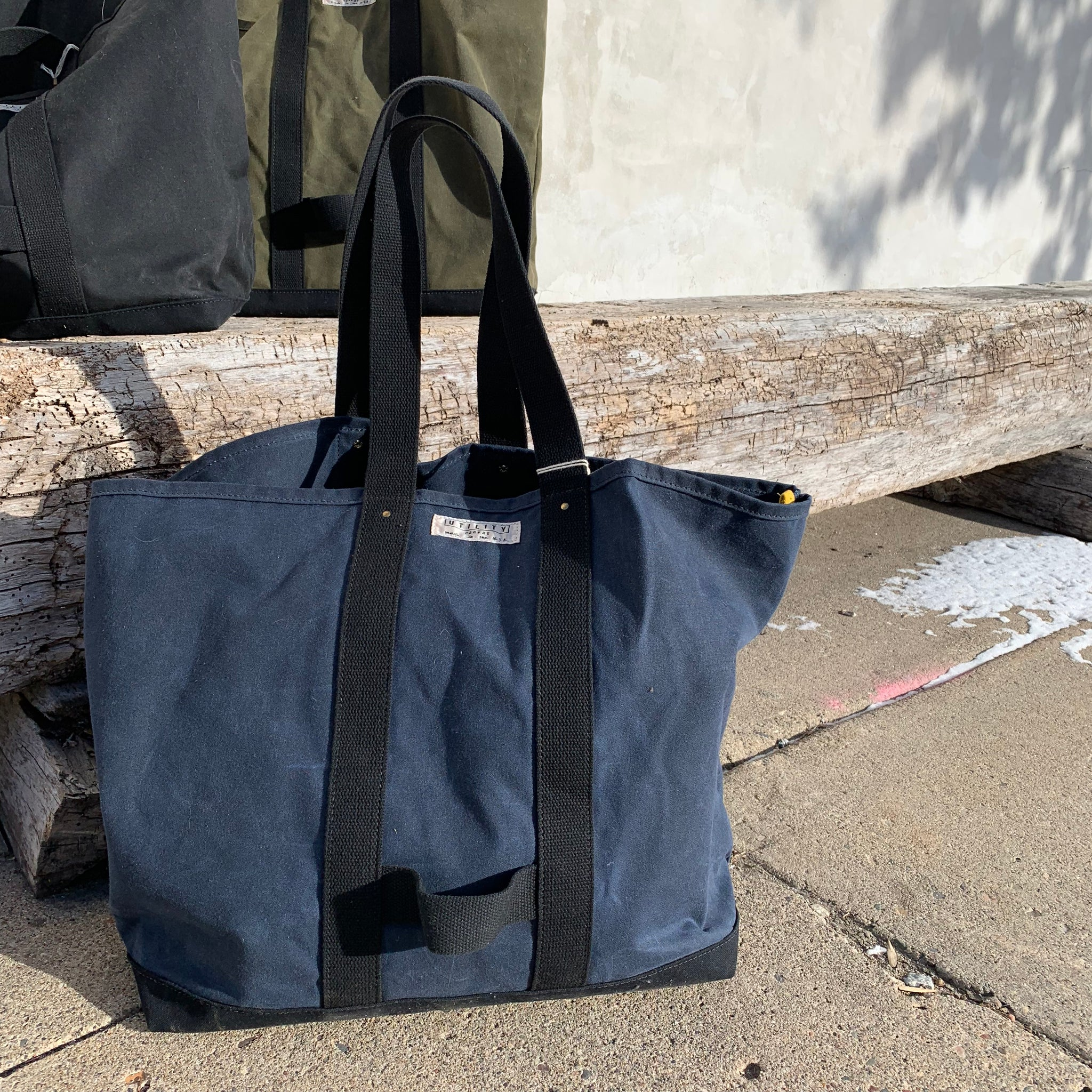 Waxed Canvas Coal Bag by Utility Canvas - Upstate MN