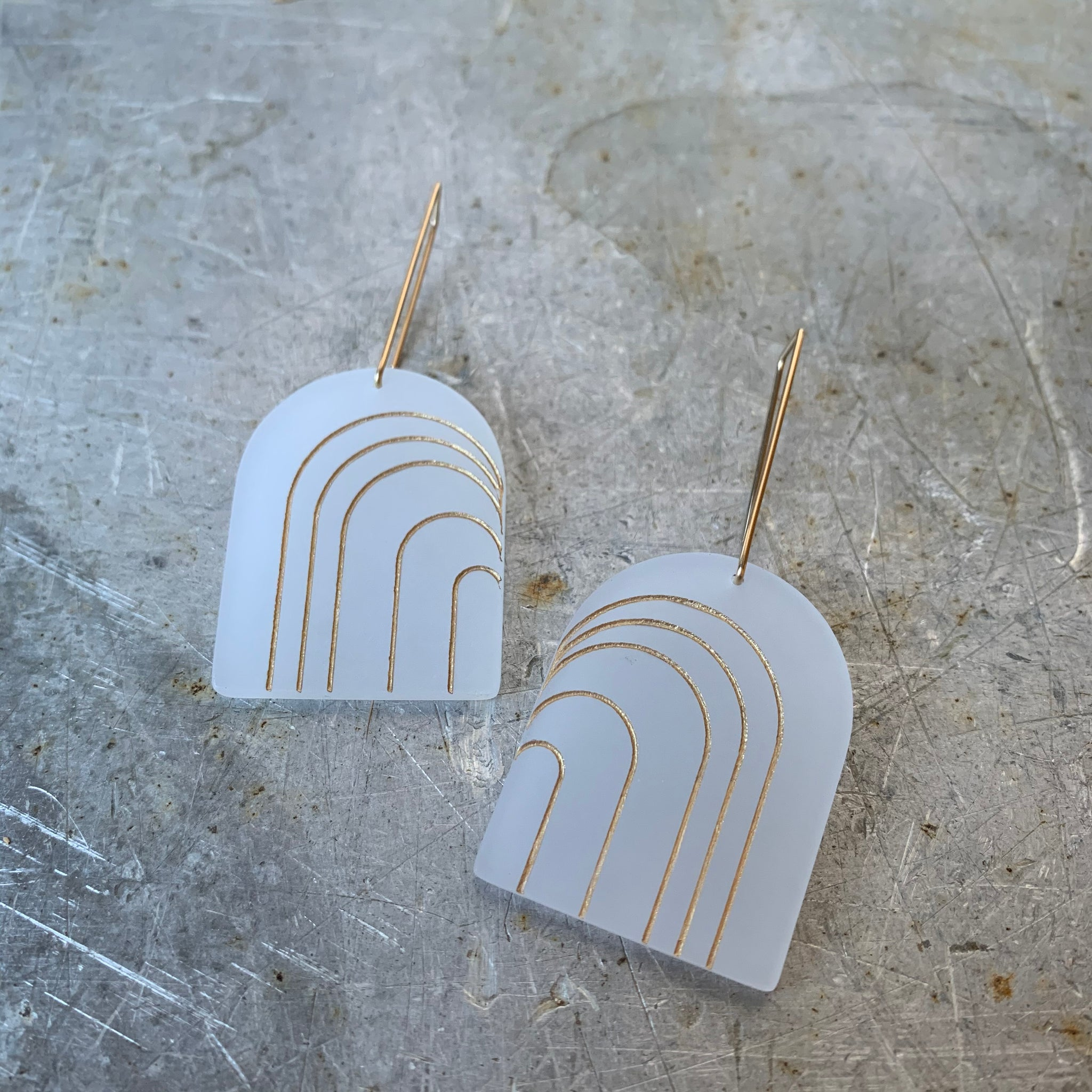 Wide Iona Earrings by Bird of Virtue