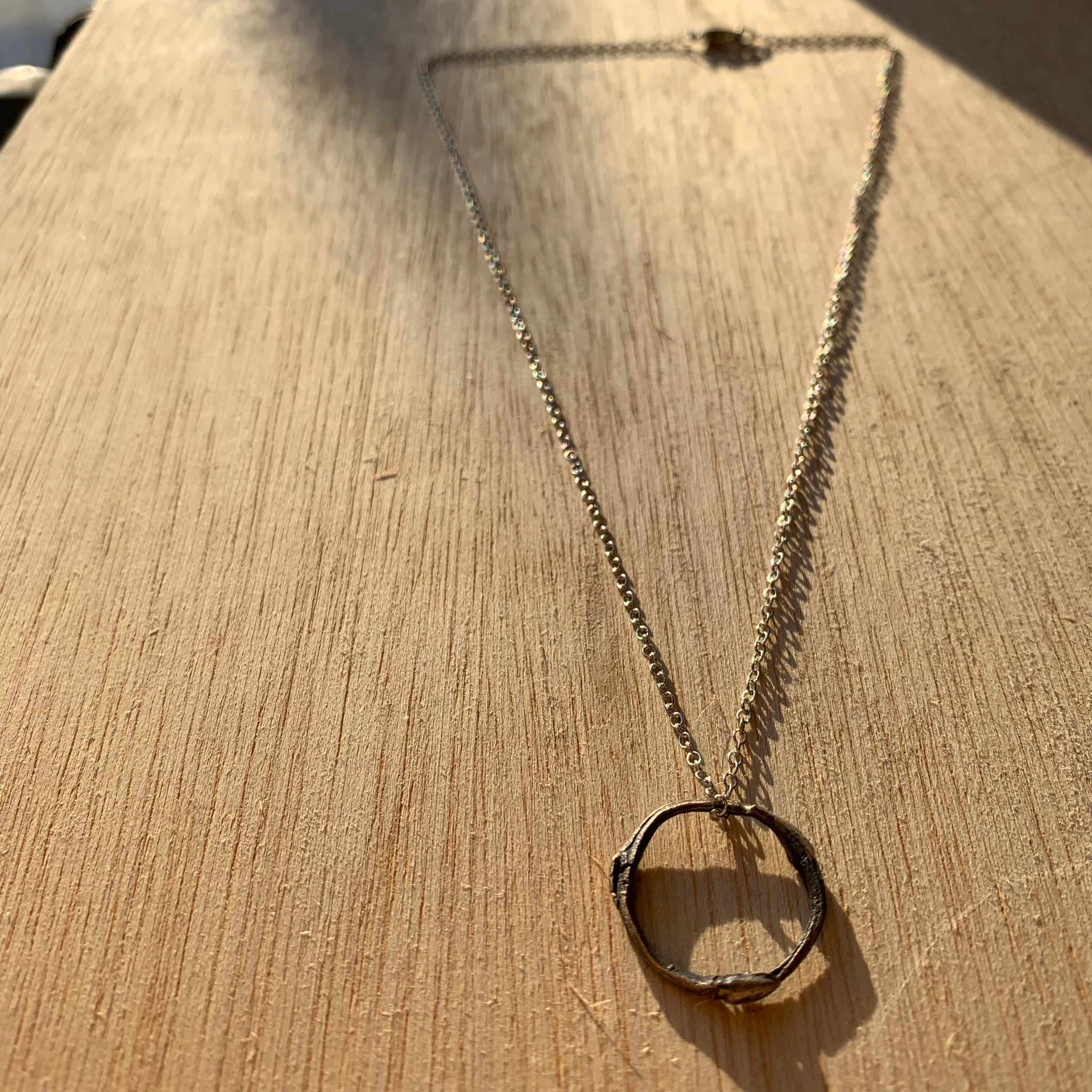 Willow Ring Necklace in Bronze by Tree Trunk Arts - Upstate MN