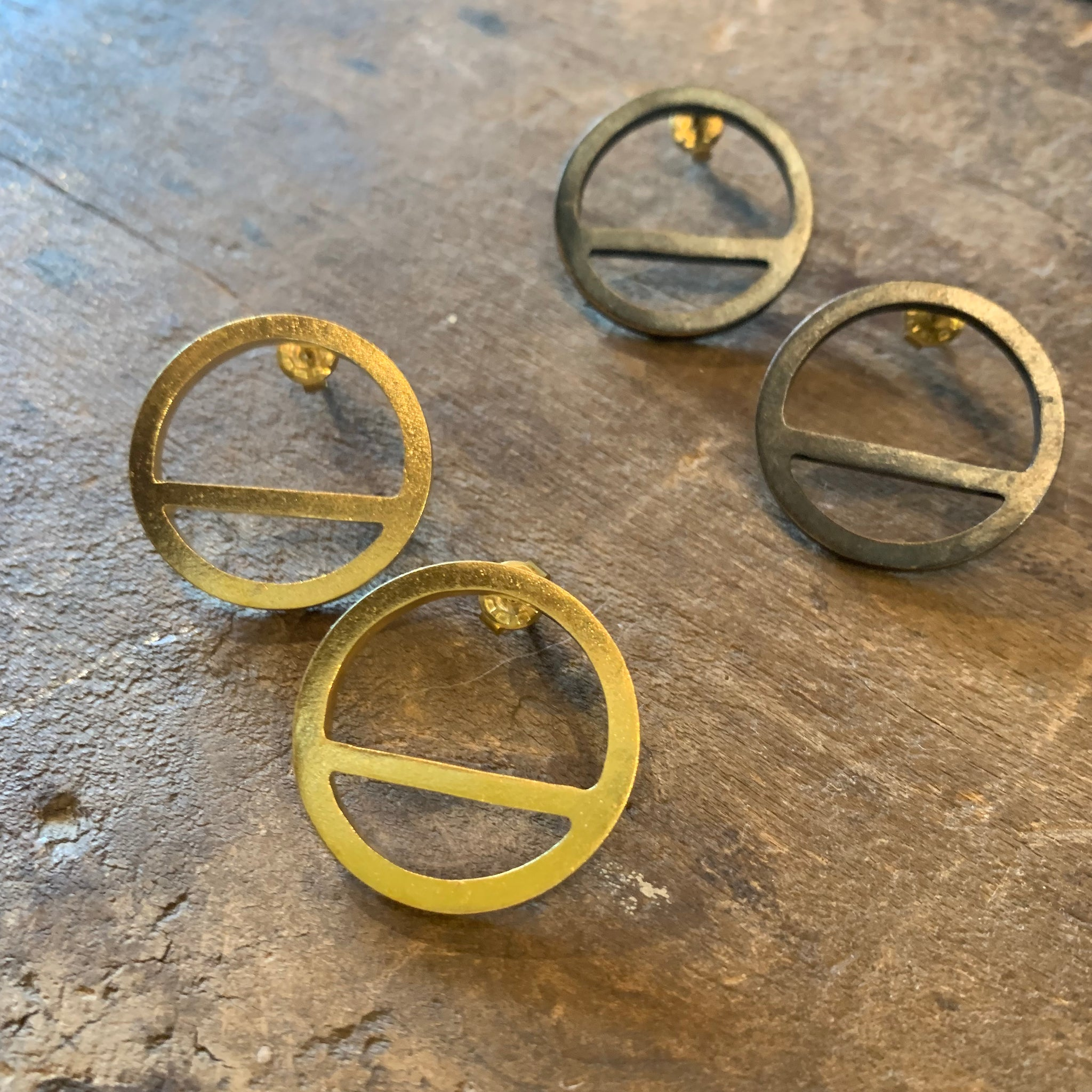 Wink Circle Earrings by Mulxiply - Upstate MN