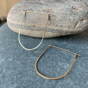 Wire Work Brass U Hoop Earrings by Eric Silva