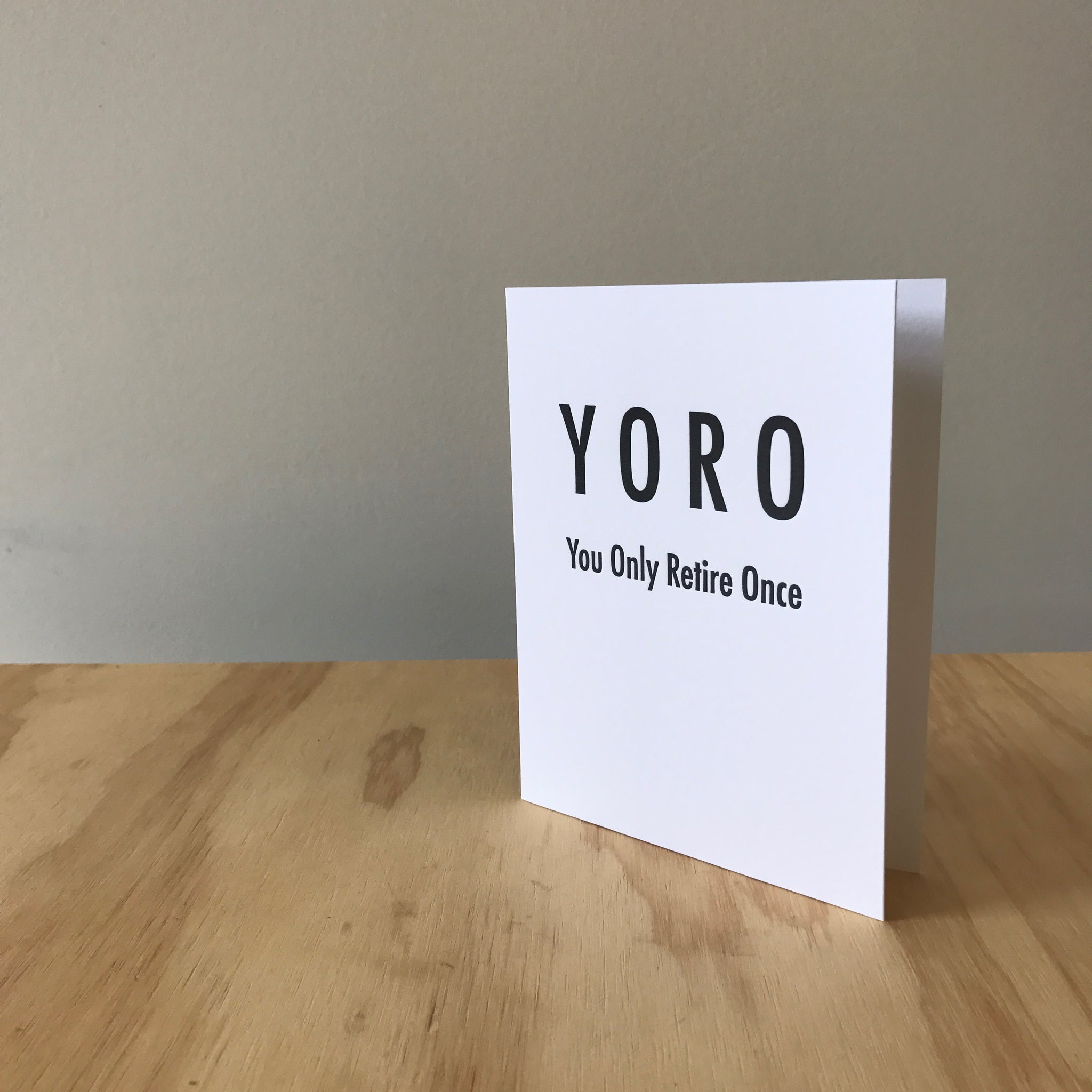 YORO Letterpress Greeting Card by Matt Butler