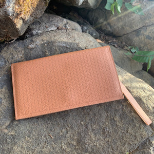Laser Etched Leather Wallet or Clutch by Molly M