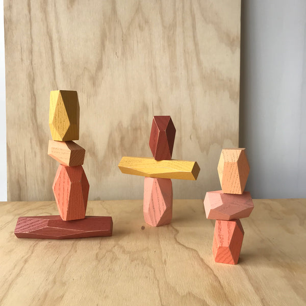 Balancing Blocks in Desert by Fort Standard for Areaware - Upstate MN