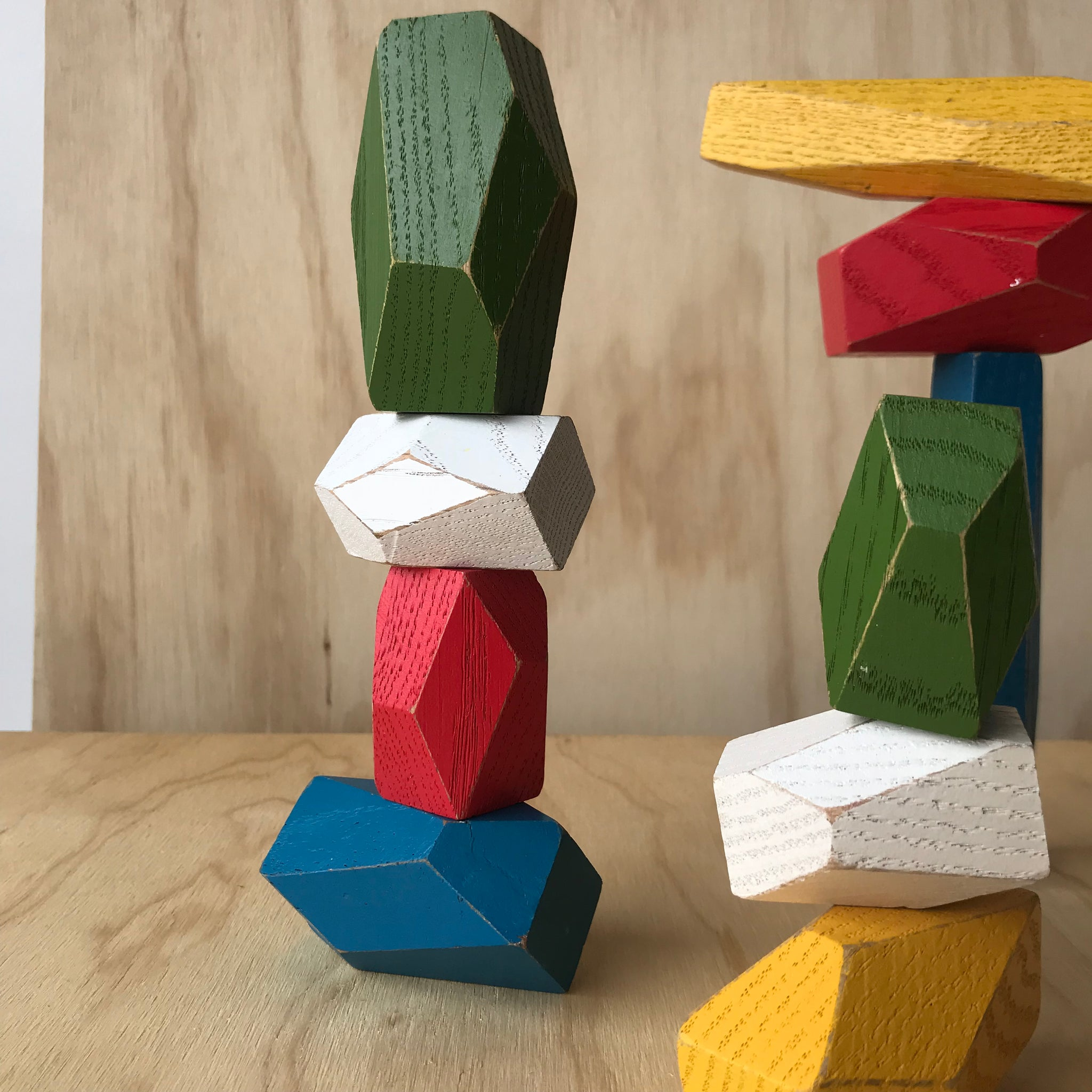 Multi-Colored Balancing Blocks by Fort Standard for Areaware