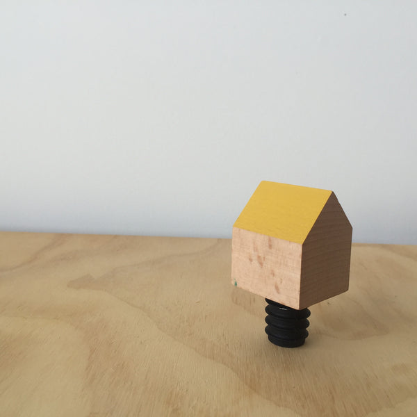 Yellow Bottle House Wine Stopper by Daphna Laurens for Areaware