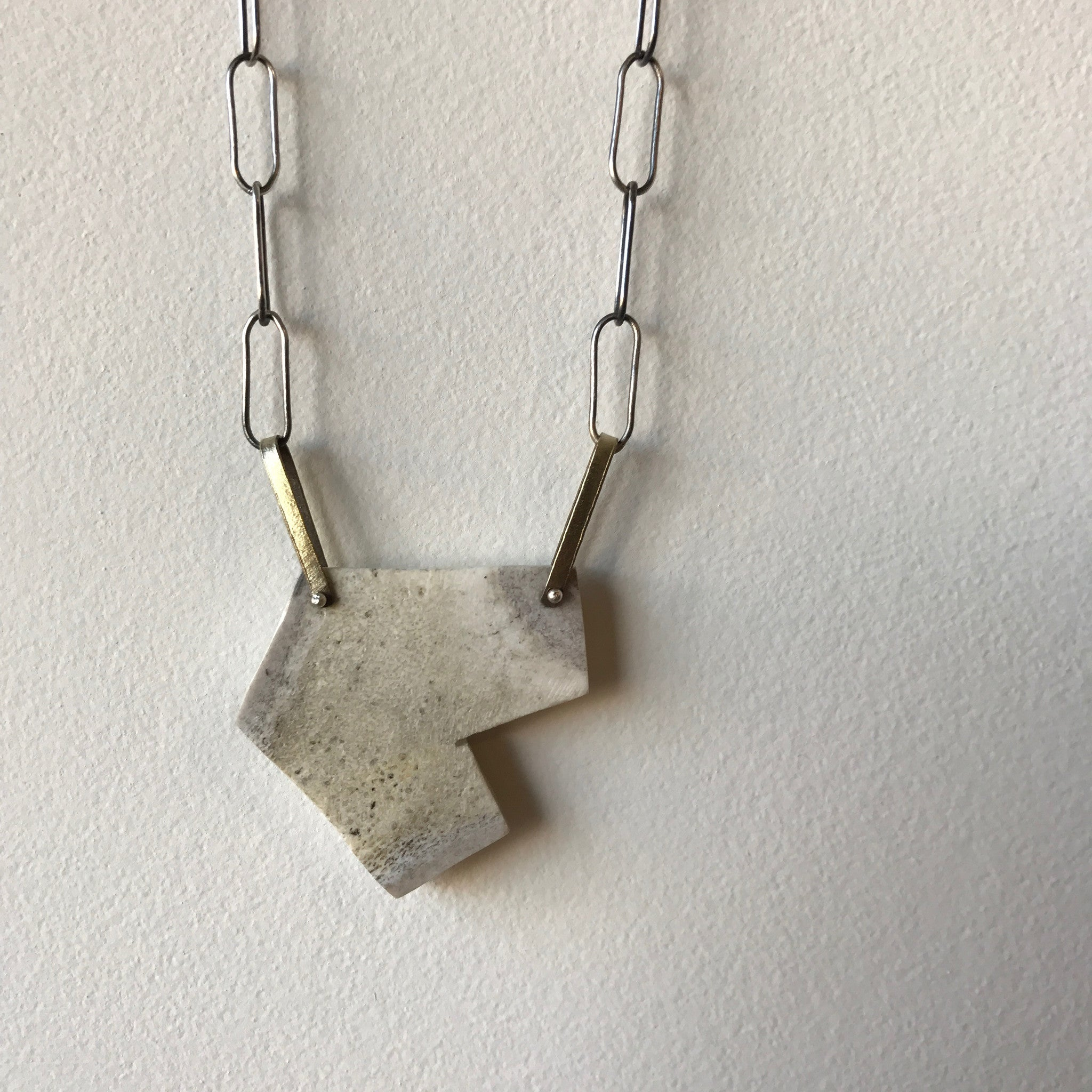 Geometric Antler Necklace By Eric Silva