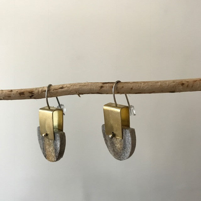 Half Circle Antler Earrings By Eric Silva