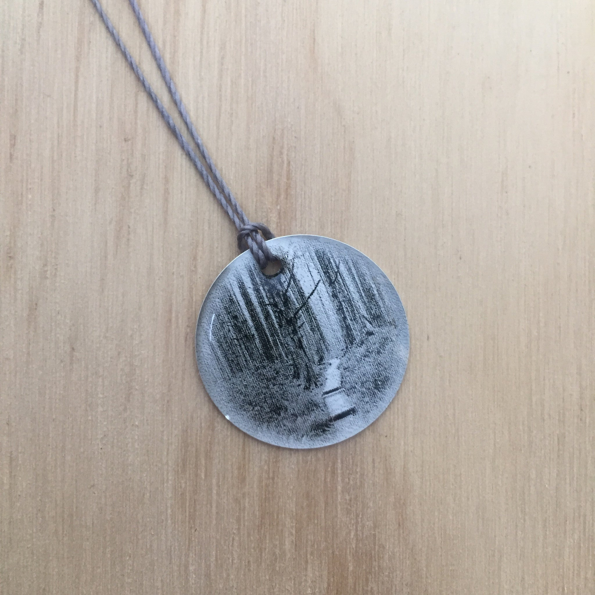 Forest Trail Photo Necklace by Everyday Artifact - Upstate MN