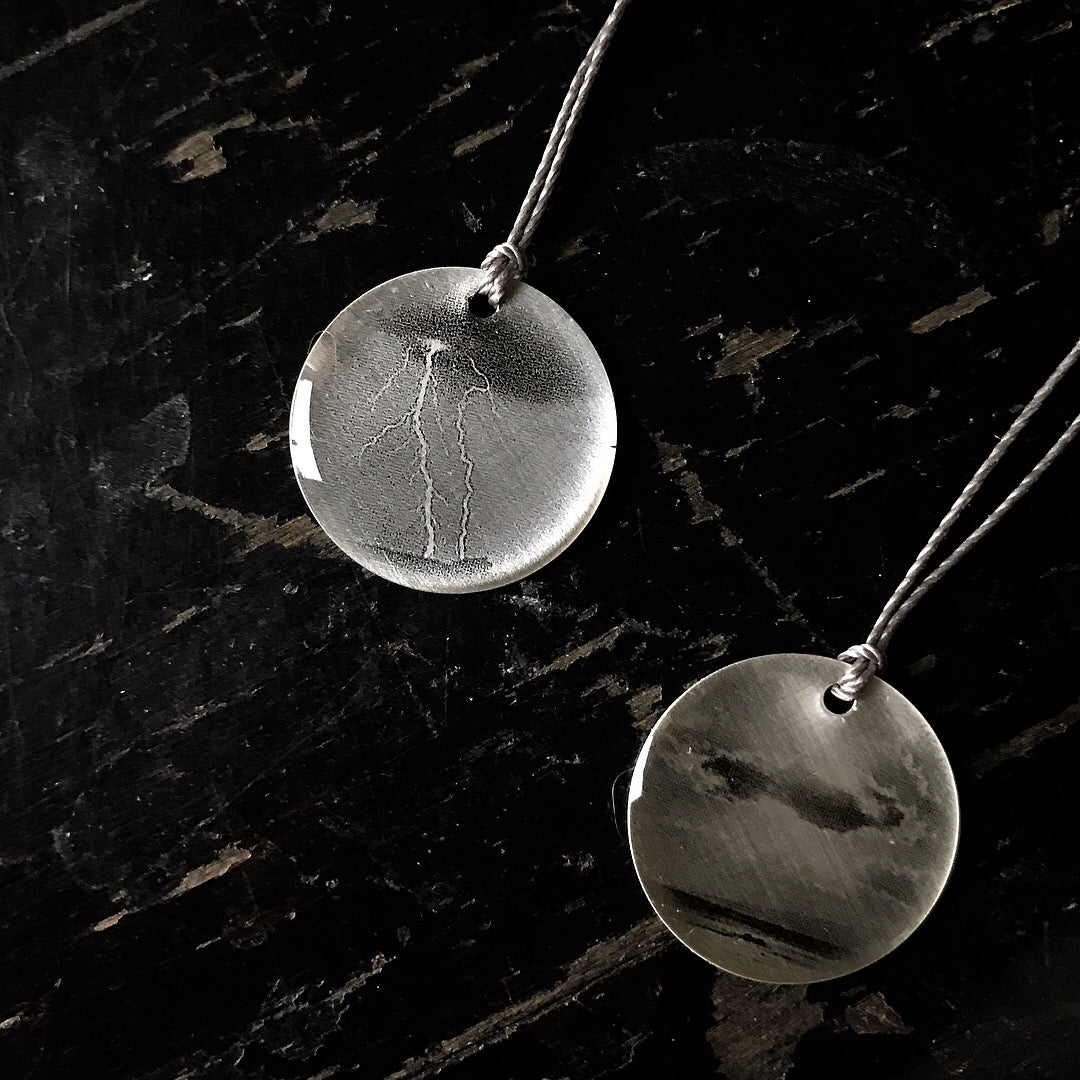 Lightning Photo Necklace by Everyday Artifact