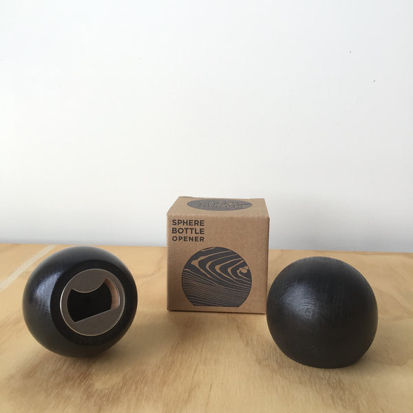 Black Sphere Bottle Opener by Fort Standard for Areaware - Upstate MN