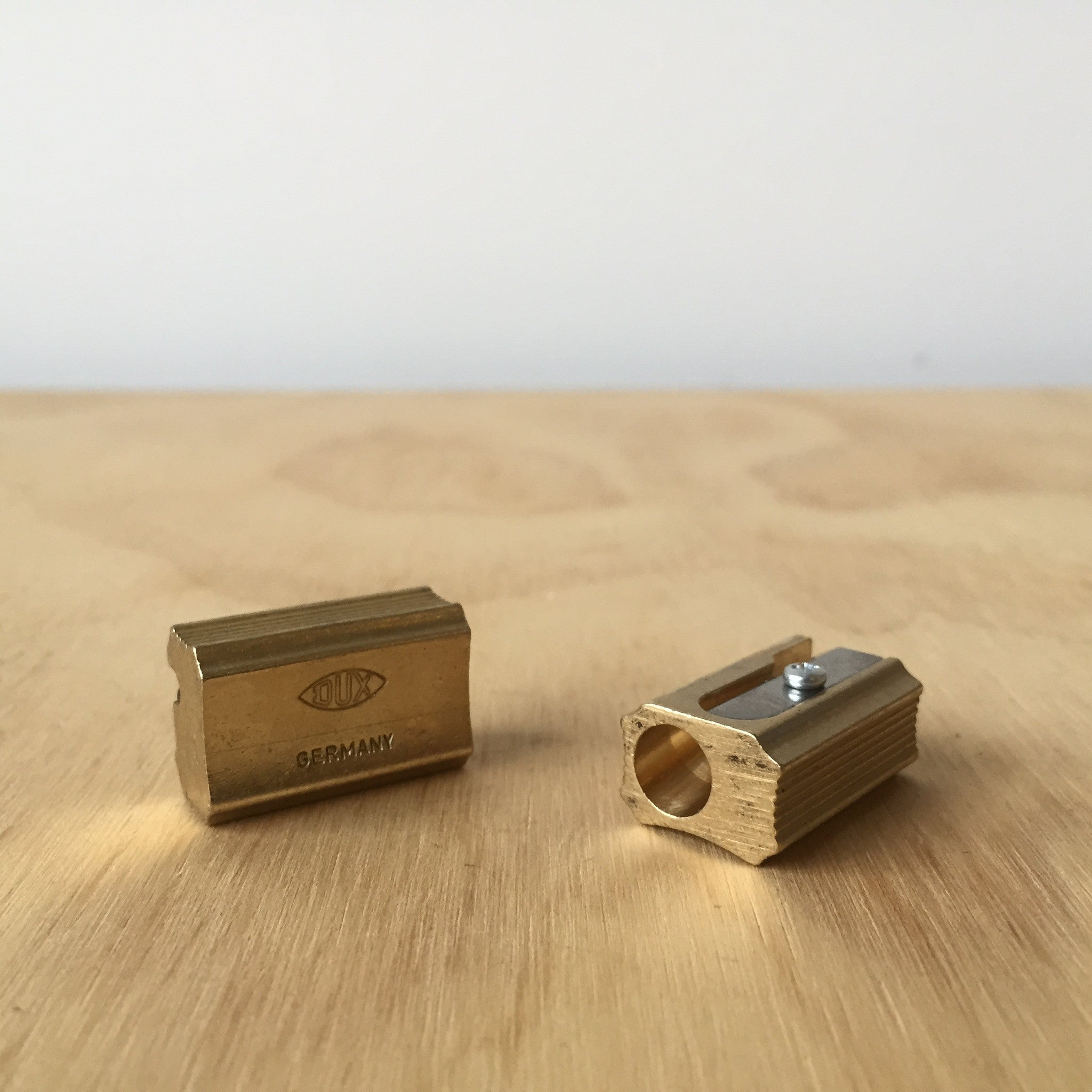 Brass Single Pencil Sharpener - Upstate MN