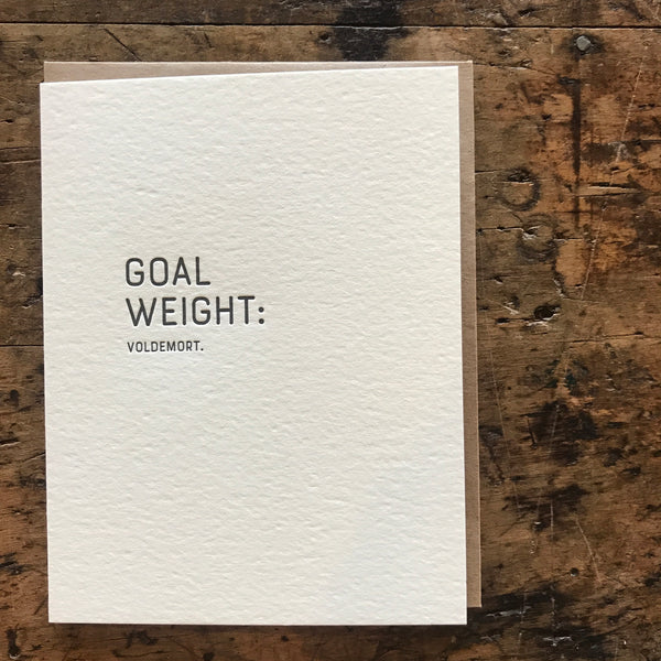 Aim High: Voldemort Letterpress Greeting Card by Sapling Press - Upstate MN