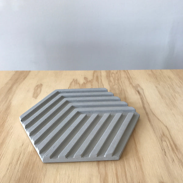 Gray Concrete Trivet by Bower for Areaware - Upstate MN