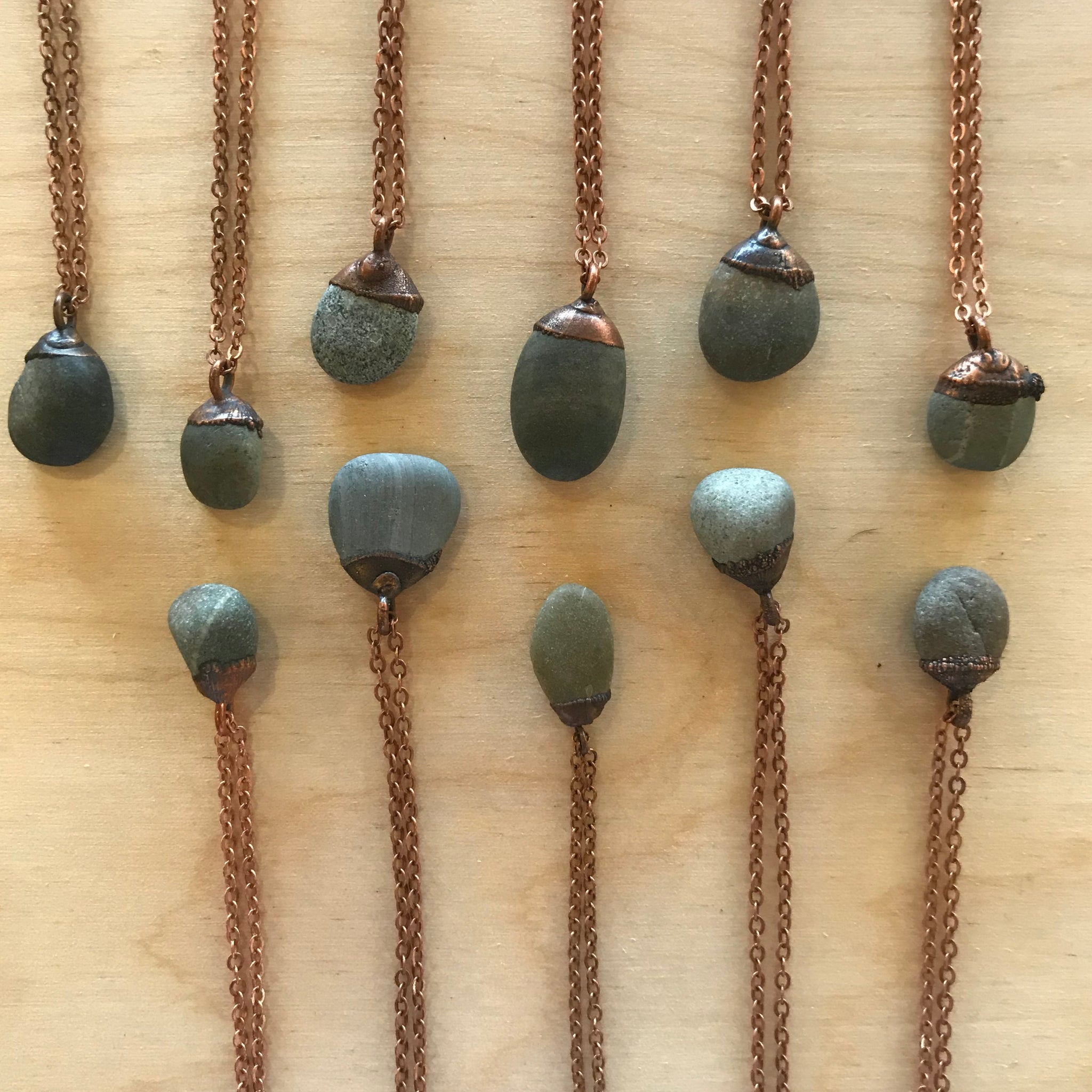 Gray Pebble Necklace by Hawkhouse - Upstate MN