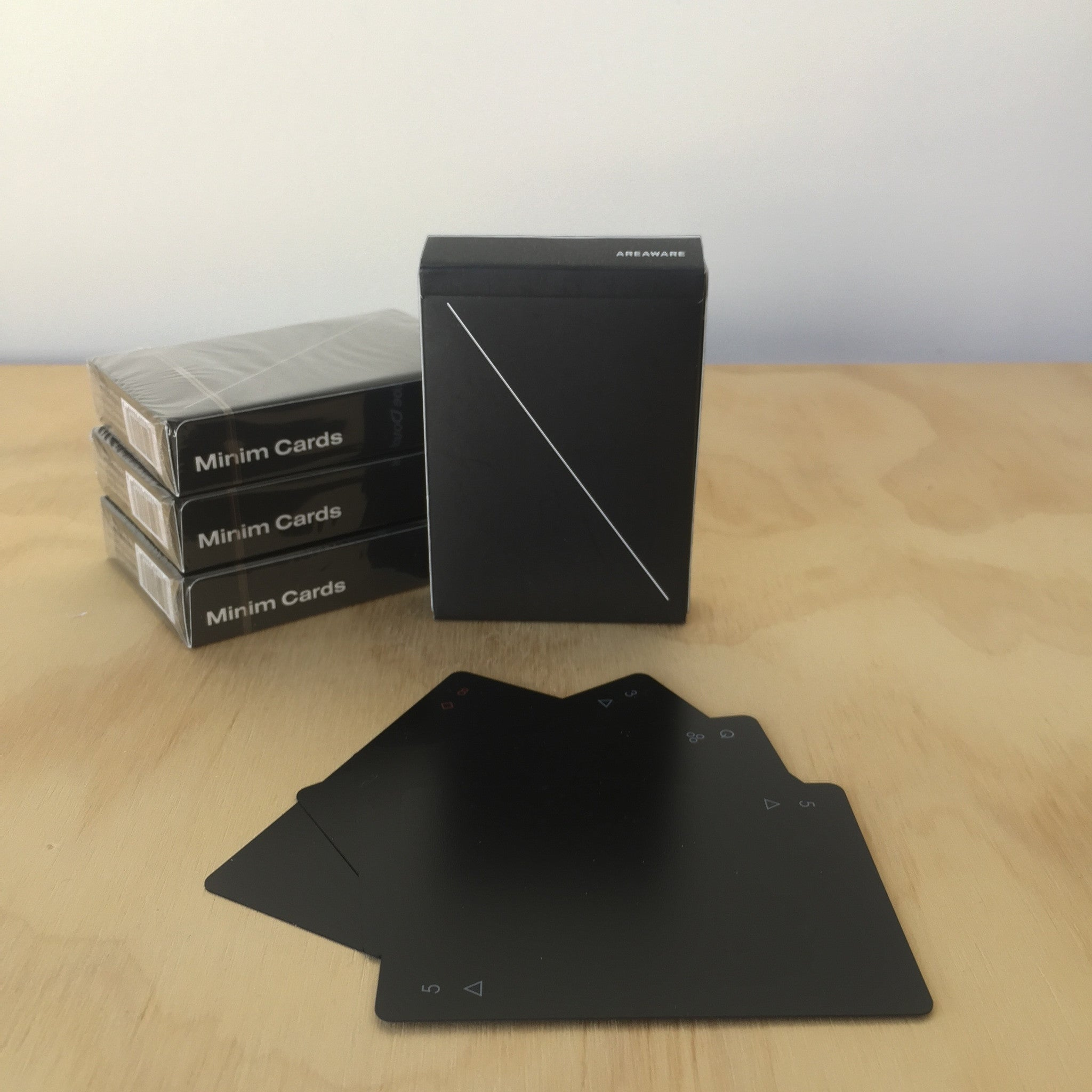 Black Minim Playing Cards by Joe Doucet for Areaware - Upstate MN