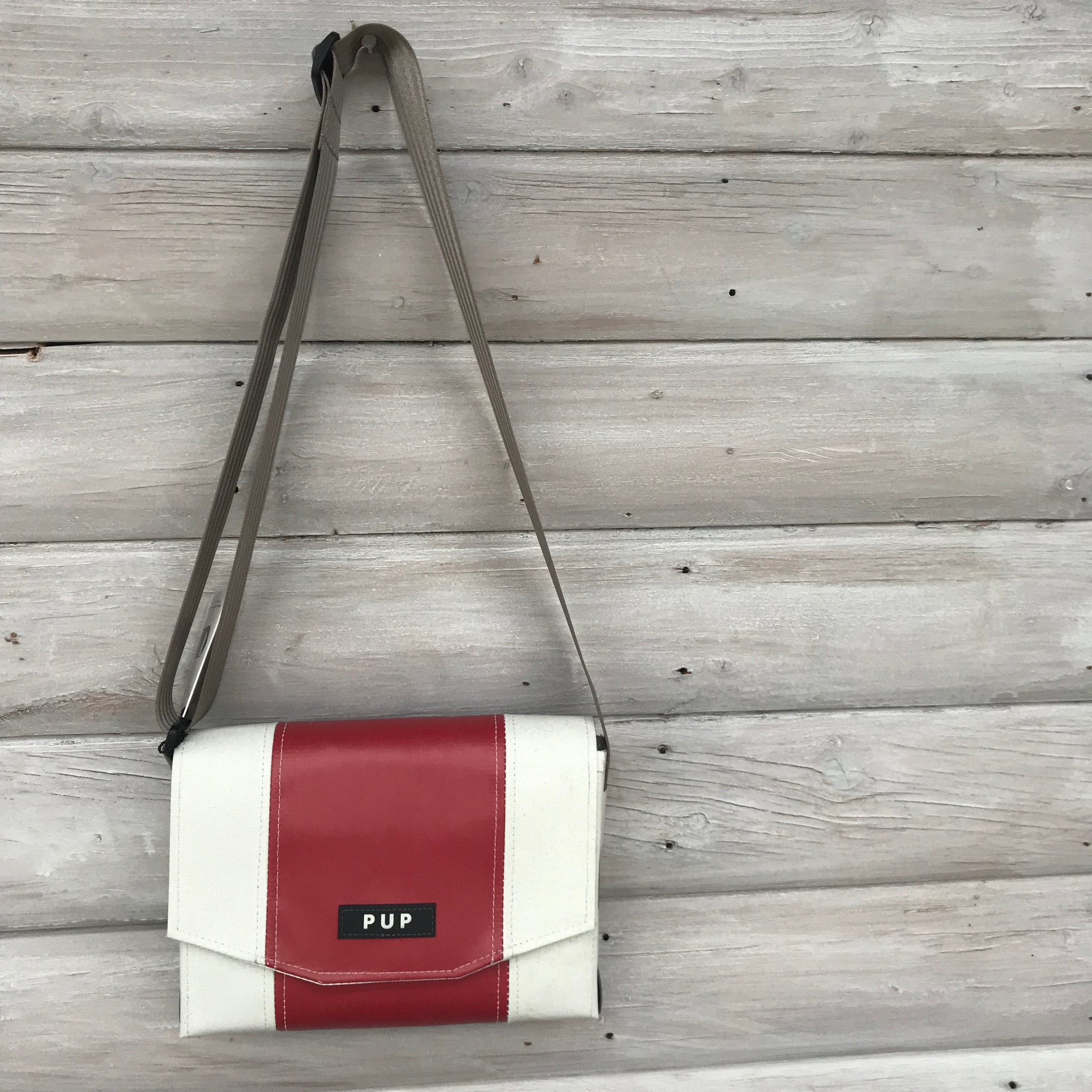 Page Dome Bag with Red by People for Urban Progress