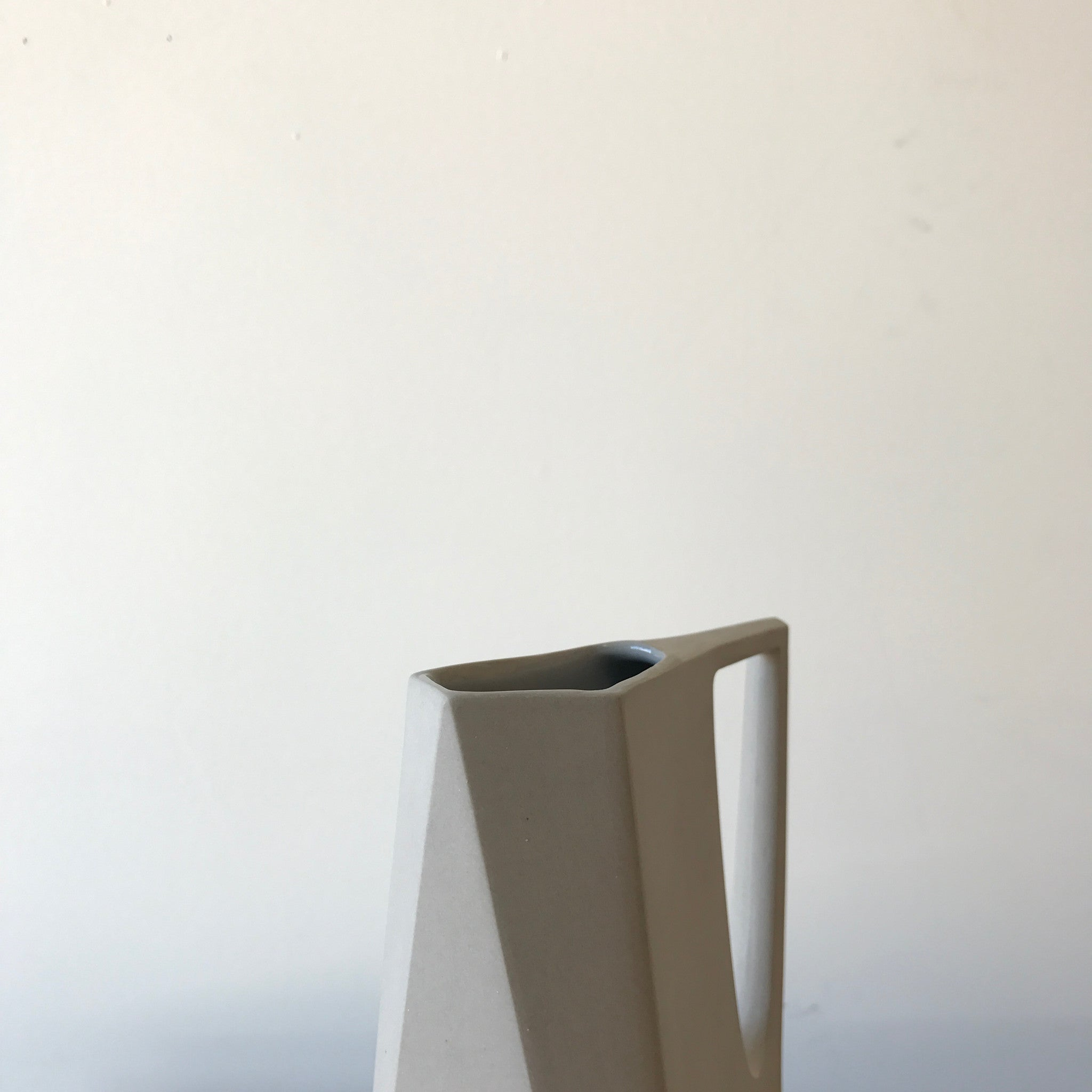 Porcelain Pitcher in Dry Sage by Edgewood Made