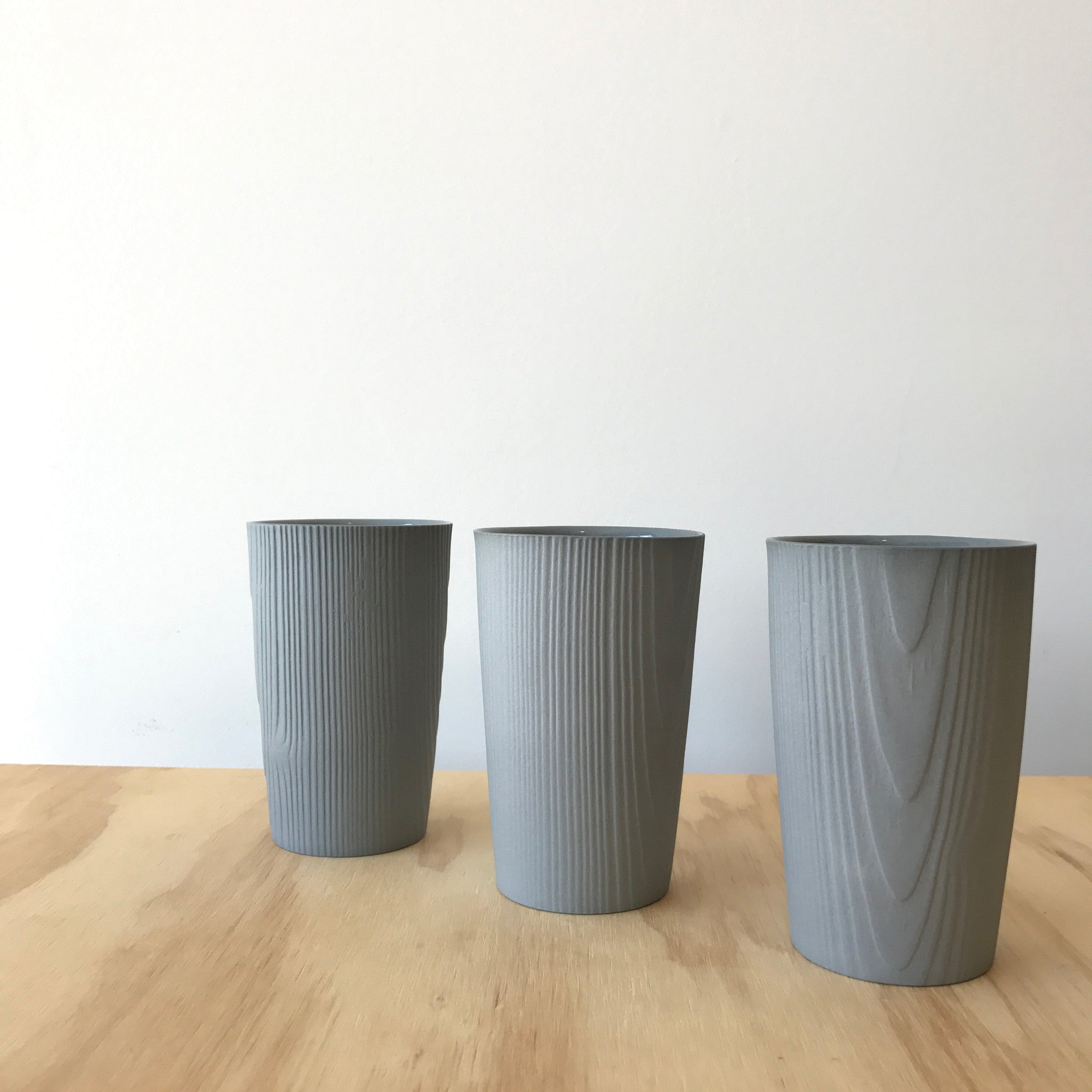 Porcelain Woodgrain Cup in Gray by Edgewood Made