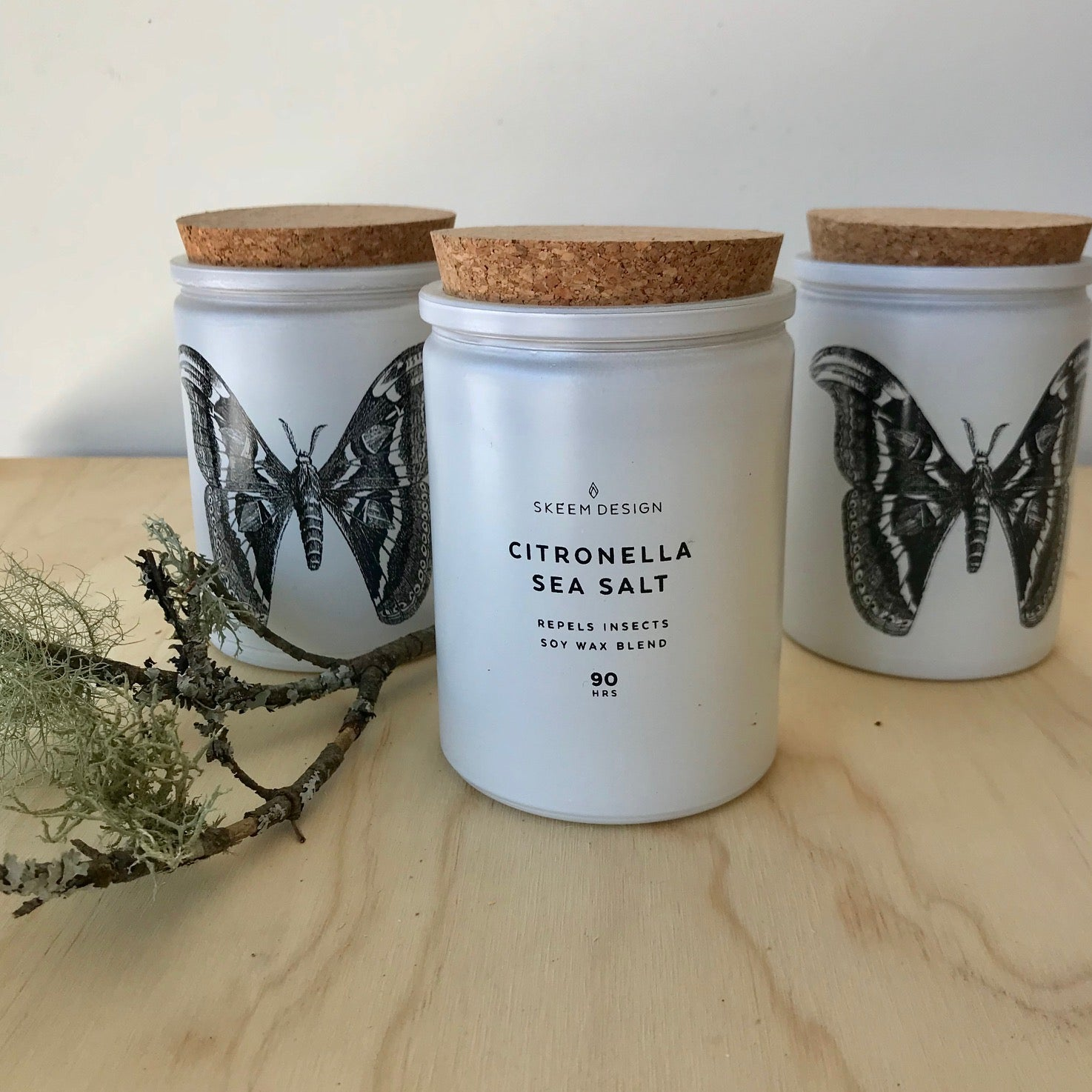 Citronella Sea Salt Upright Candle by Skeem Design - Upstate MN