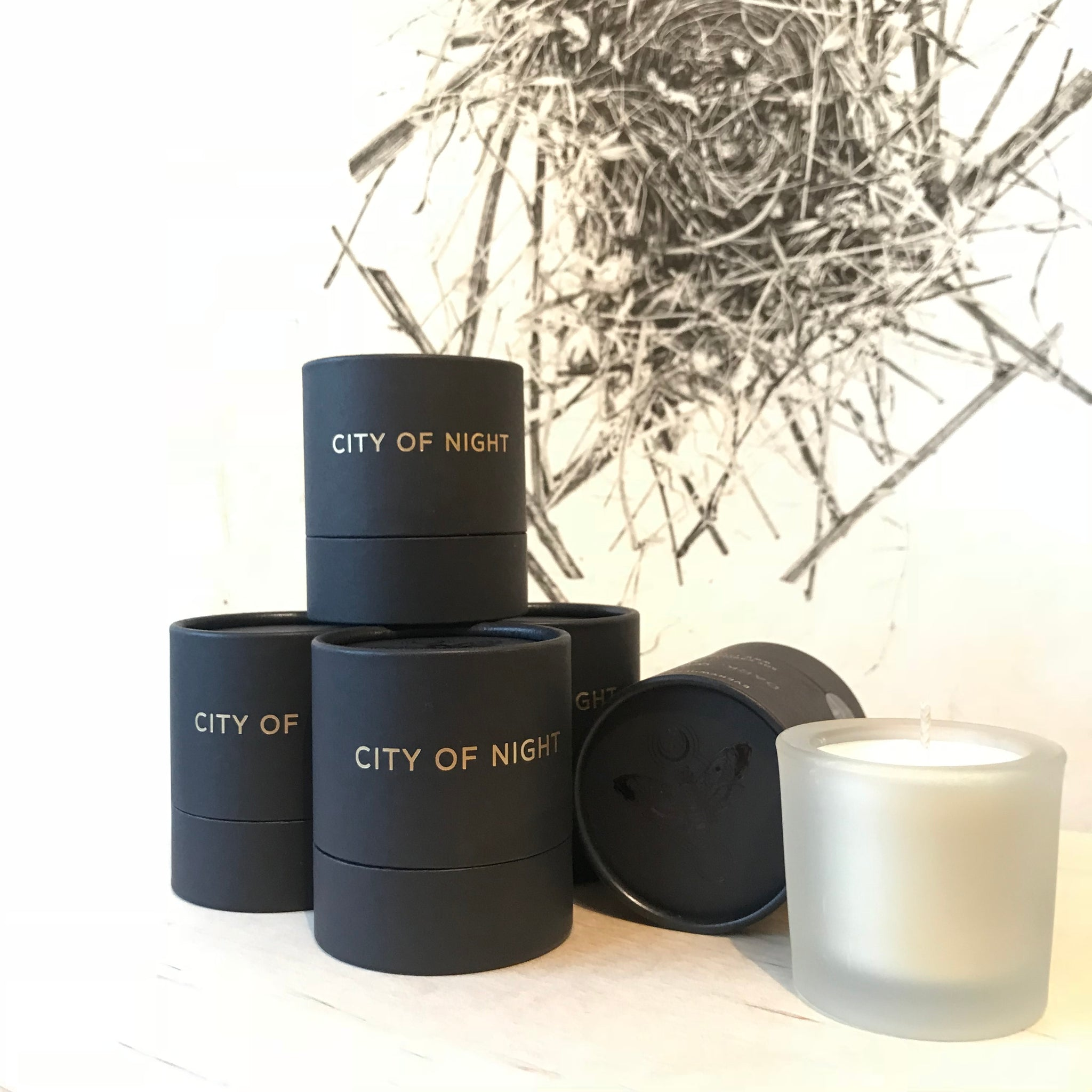 City of Night Hand-Poured Candle by Tatine - Upstate MN
