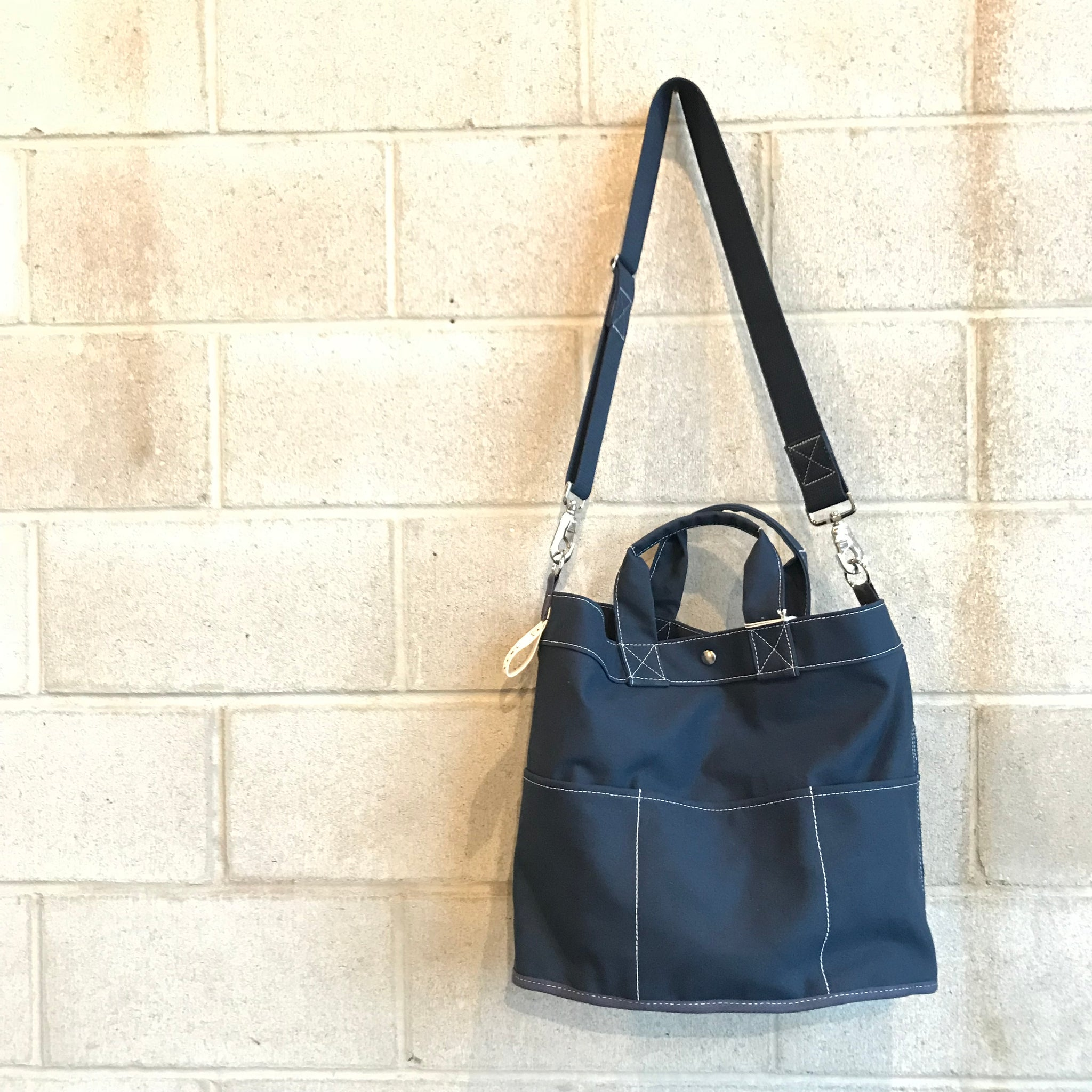 Navy Canvas Bucket Tote Bag by Utility Canvas - Upstate MN