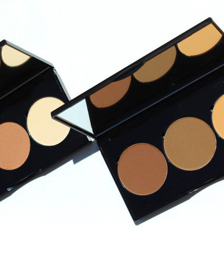 3-Well Contour Powder Palette