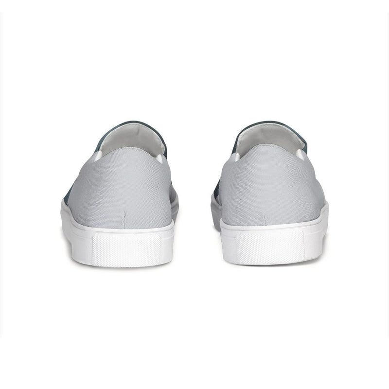 FYC Canvas Slip-On Venturer Casual Shoes - blue/grey (men's and women's sizing) - What's Your Chic