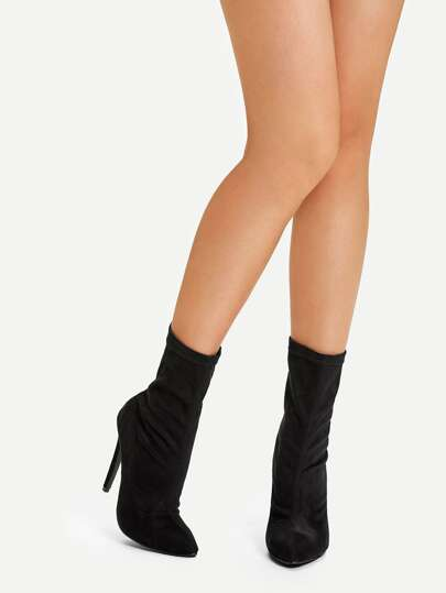 Stiletto Heel Boots with back zipper - What's Your Chic