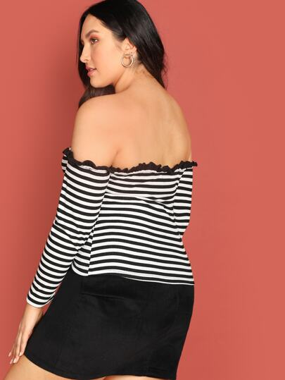 Plus-size off shoulder tee - What's Your Chic