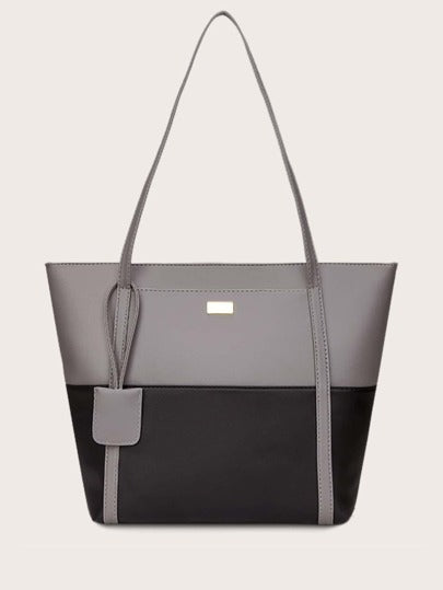 Two Tone Tote Bag - What's Your Chic