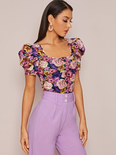 """Vibes"" floral top - What's Your Chic"