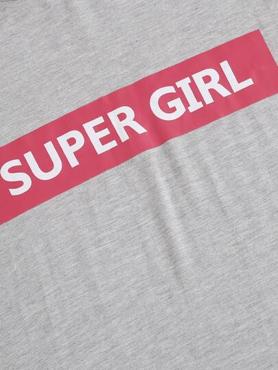 """Super-Girl"" casual print dress - What's Your Chic"