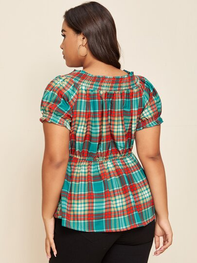 Tartan plaid blouse - What's Your Chic