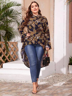 Leopards & Chains blouse - What's Your Chic