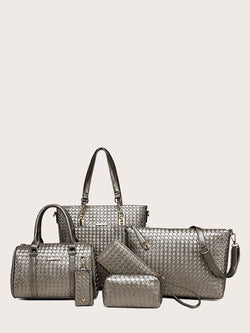 Woven Bag Set (6 piece) - What's Your Chic