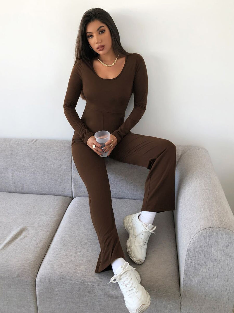 Scoop Neck Casual Jumpsuit - What's Your Chic