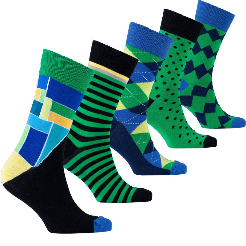 Emerald Mix Set Socks by Socks n Socks - What's Your Chic