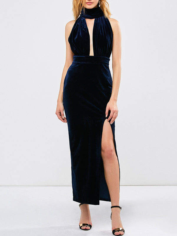'Honey' Velvet Convertible Dress - What's Your Chic