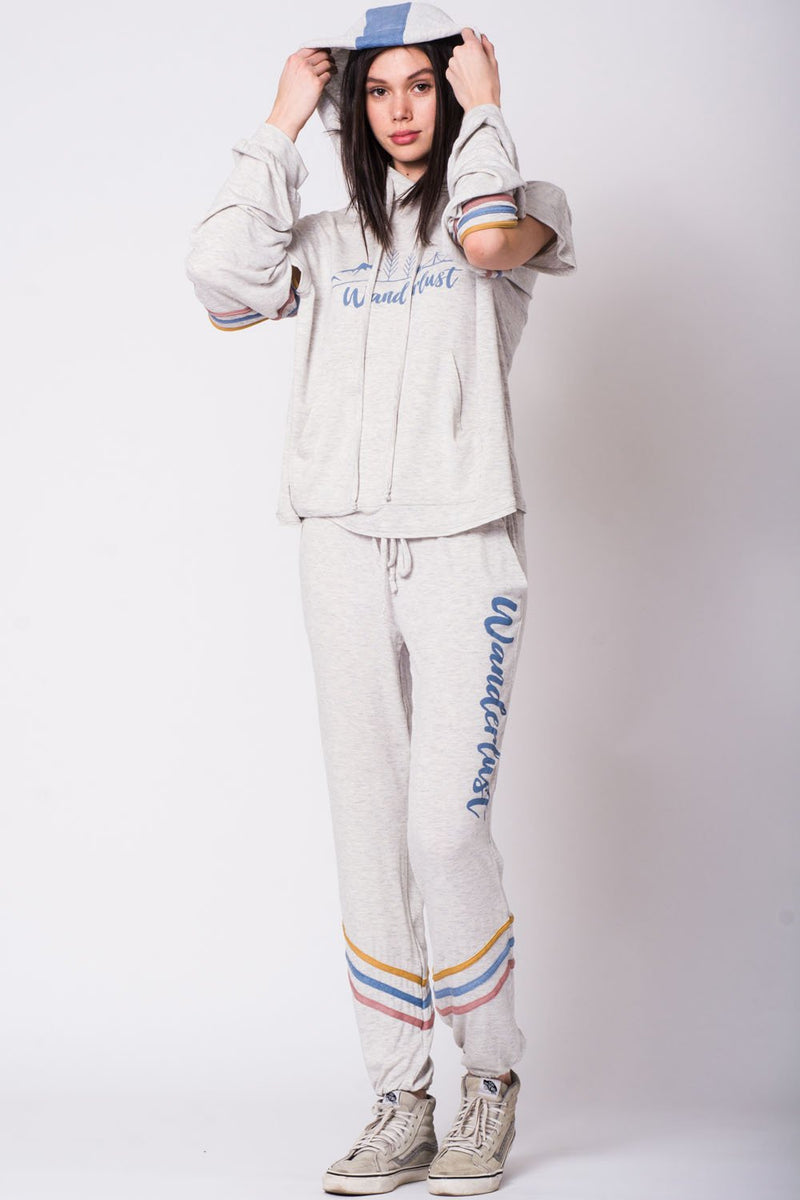 Stripe sweatpant by Wanderlux - What's Your Chic