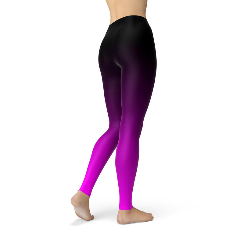 Black and pink ombre leggings - What's Your Chic