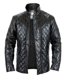 Unisex Black Genuine Leather Jacket