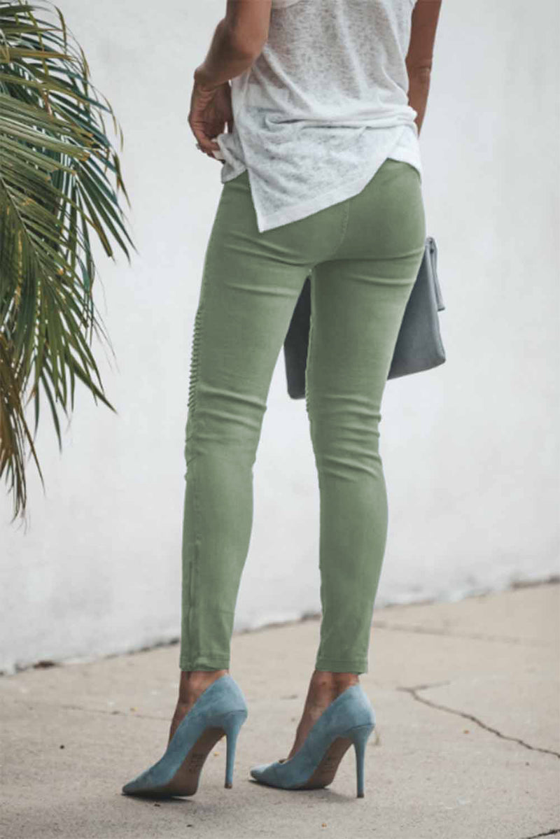 Cropped Moto Jeggings - What's Your Chic