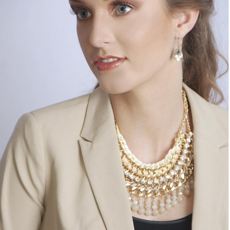 Lattice Necklace- Gold - What's Your Chic