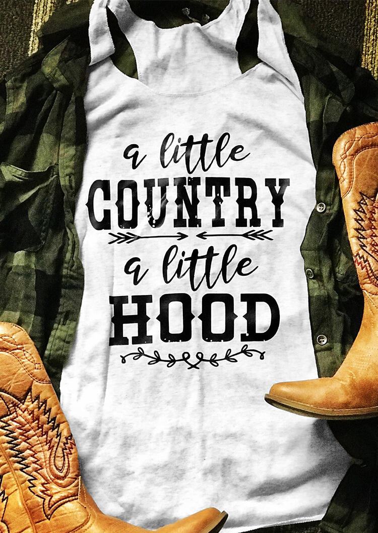 """A Little Country /A Little Hood"" tank top - What's Your Chic"