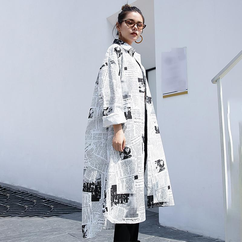 "Toriko ""Newspaper"" print shirt dress - What's Your Chic"
