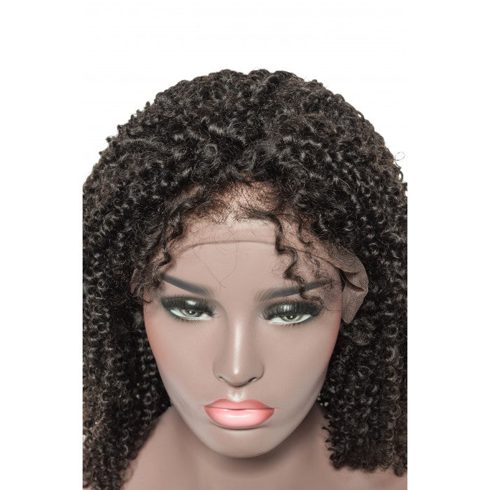 Afro Curly 13x6 lace front human hair wig - What's Your Chic